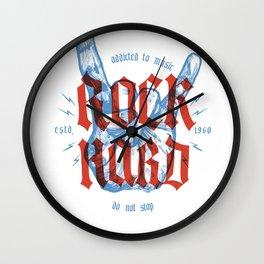 Rock Hard Wall Clock