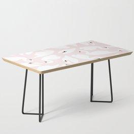 Swan Pattern on Pink 030 Coffee Table