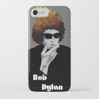 bob dylan iPhone & iPod Cases featuring Bob Dylan by Justin McElroy