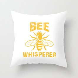 Bee Whisperer, Beekeeper Gift, Bee Lover, Save The Bees Throw Pillow