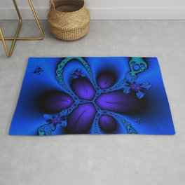 blue larkspur butterfly Rug