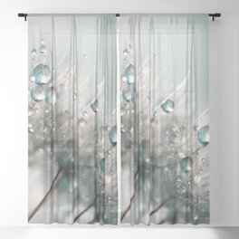 Pretty Dewdrops Sheer Curtain