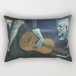 Pablo Picasso - The Old Guitarist Rectangular Pillow