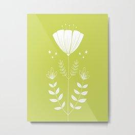 Folky Flower Metal Print