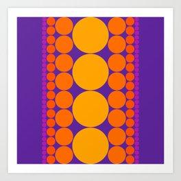 Purple Dots Art Print