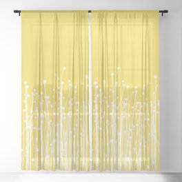 Meadow - Yellow Sheer Curtain