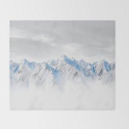 Snow Capped Mountains Throw Blanket