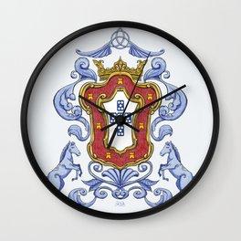 Portuguese Crest Wall Clock