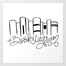 Bookstagram Art Print