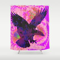 eagle Shower Curtains featuring eagle by giancarlo lunardon