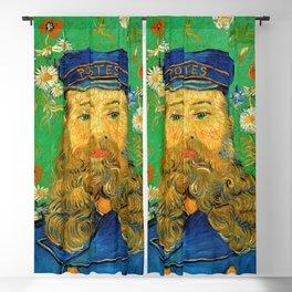 Vincent Van Gogh - Portrait of the Postman Joseph Roulin Blackout Curtain