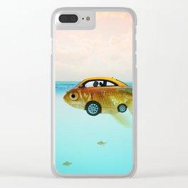 Goldfish Submarine Clear iPhone Case