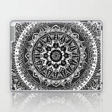 Black and White Mandala Pattern Laptop & iPad Skin