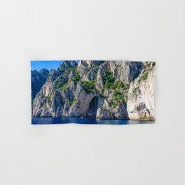 The White Grotto of the island of Capri, Italy off Naples and the Amalfi Coast Hand & Bath Towel