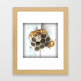 Don't Come Any Closer! Framed Art Print