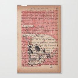 Book Page Art: Avarice Canvas Print