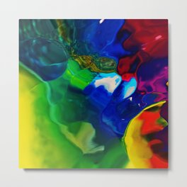 Melting Skittles Metal Print