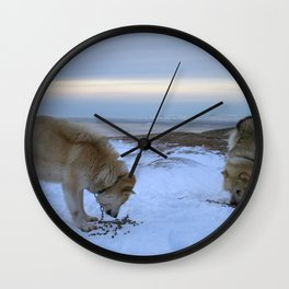 Ilulissat Greenland: The land of dog sleds and Midnight Sun Wall Clock