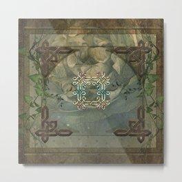 Wonderful decorative celtic knot Metal Print