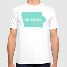 Not Nebraska  White Mens Fitted Tee MEDIUM
