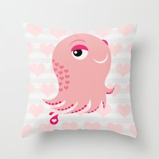 Squid of Love (Valentine's Edition) Throw Pillow