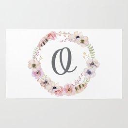 Floral Wreath - O Rug