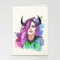 taurus Stationery Cards featuring Taurus by Sara Eshak