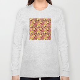 Circle pinks and carmel number 11 Long Sleeve T-shirt