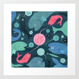 Fish Talk Art Print