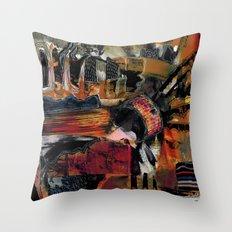 Disintegration 1 Throw Pillow