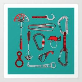 Climbing Equipment Art Print