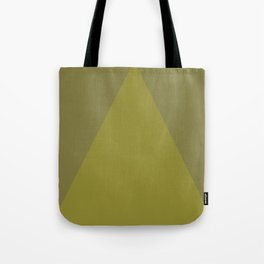 Yellow Green Triangle V1 Tote Bag