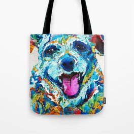 Colorful Dog Art - Smile - By Sharon Cummings Tote Bag