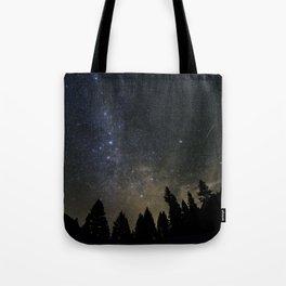 Orionids over Big Sky Tote Bag