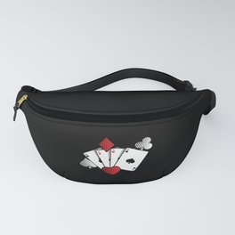 Poker Cards | Casino Gamble Ace Gift Idea Fanny Pack