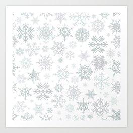 Snowflake pattern Art Print