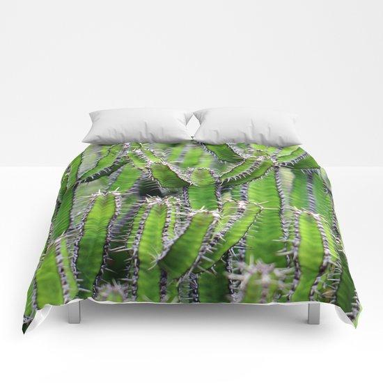 cactus illusion 4 Comforters
