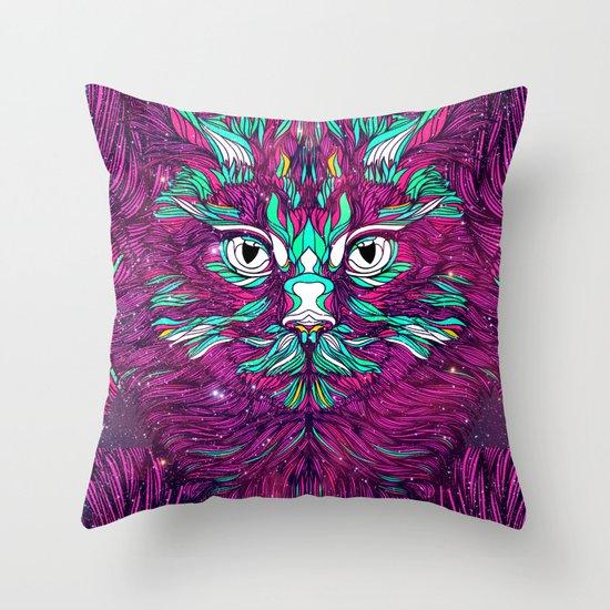 Space Cat (Feat. Bryan Gallardo) Throw Pillow