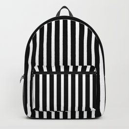 Black & White Stripes (vertical) Backpack