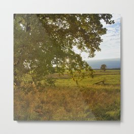 Autumn Countryside Landscape Sunset Metal Print