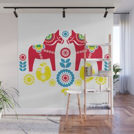 Swedish Dalahäst Wall Mural