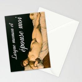 Largue maman et épouse-moi Stationery Cards
