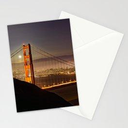 GOLDEN GATE BRIDGE NIGHT SAN FRANCISCO CALIFORNIA Stationery Cards