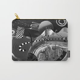 Black and white abstraction explosion of chess Carry-All Pouch