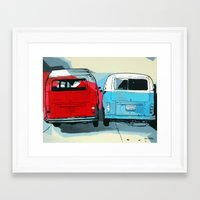 vw Framed Art Prints featuring VW Vans by Nuno