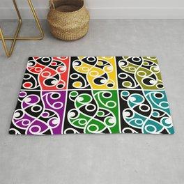 Maori Kowhaiwhai Pattern Rug