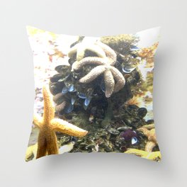 STARS IN THE OCEAN Throw Pillow