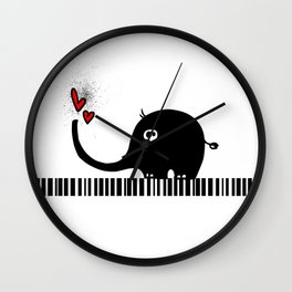 Little Elephant With Big Love... Wall Clock