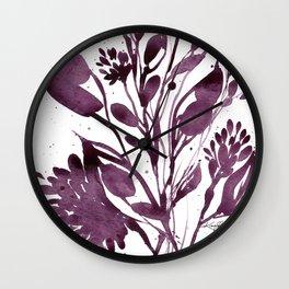Organic Impressions No. 110 by Kathy Morton Stanion Wall Clock