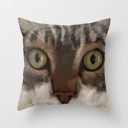 Cat Closer Throw Pillow